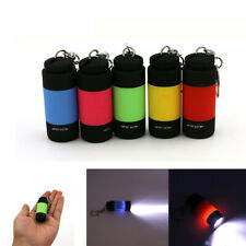 Led Mini Flashlight Keychain Torch Outdoor Waterproof Built-in Battery Recharge