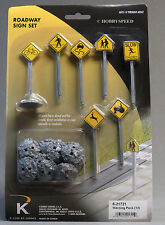 K-LINE BY LIONEL ROAD WARNING PACK 12 SIGNS o gauge train slow crossing 6-21721