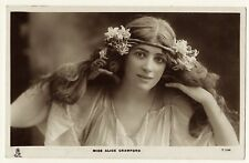 Portrait Of Beautiful Stage Actress Alice Crawford (Vintage Rppc)
