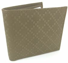 """AUTHENTIC New Gucci Men's Leather """"Margaux"""" Diamante Wallet #260987, NWT"""