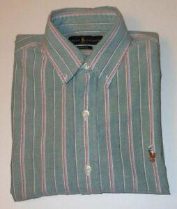 RALPH LAUREN MULTI COLOR STRIPED SIGNATURE L/S DRESS SHIRT RL7035 C6