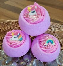 X1 Unicorn & Rainbow Bath Bomb with Shea Butter - Approx 180g
