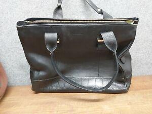 Osprey London Black Leather Hand Bag