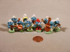 Porcelain Miniatures Smurf French Feves