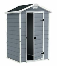 Garden Storage Shed Keter Outdoor Plastic - BBQ's and DIY tools 4x3 ft Manor