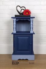 Blue Two Tone Blue, Solid Wood Cabinet