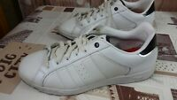 lonsdale white mens leather trainers size 9.5uk/44eu/10.5us (28cm)/rare di