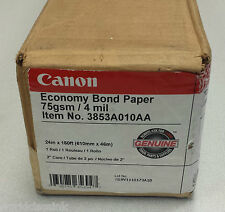 """Canon 3853A010AA Economy Bond Paper Roll 24"""" Wide 150 ft CNM"""