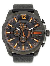 Erwachsene Armbanduhren mit Armband aus echtem Leder und Chronograph für Herren