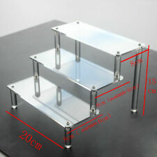 Clear Acrylic 3-5 Tier Display Shelf Showcase Action Figure Toy Cosmetic Stand