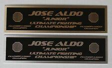 Jose Aldo UFC nameplate for signed mma gloves photo case