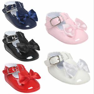 Newborn baby girl patent pram shoes Mary Jane shoes toddler shoes