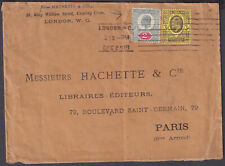 1905 Hachette&Co, London WC M/C to Paris (B/S), France; KEVII 2d +3d