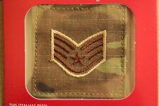 USAF US AIR FORCE I/A MULTICAM OCP E-5 HOOK BACK CAMOUFLAGE CAMO UNIFORM RANK