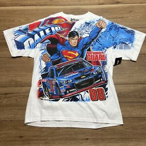 Dale Earnhardt Jr Superman Mens All Over Print T - Shirt Extra Large XL Graphic