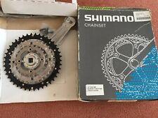 Retro Shimano Chainset Model LX - 42,32,22 170mm Cranks.