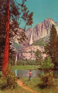 Vintage Postcard 1957 Yosemite Upper Falls Yosemite National Park