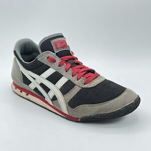 Asics Mens Onitsuka Tiger HN201 Gray Running Training Shoes Lace Up Low Size 7