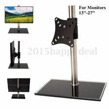 Single Arm LCD LED Monitor TV Bracket Desk Mount Stand For 13-27'' Screen Swivel