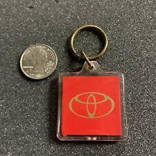 Vintage Toyota Cars and Trucks Plastic Keychain Key Ring #41408