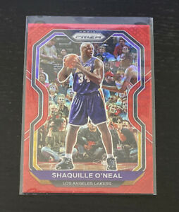 2020-21 Panini SHAQUILLE ONEAL Base RUBY RED WAVE PRIZM #207 Lakers