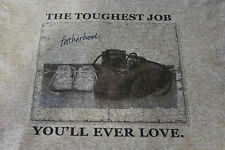 Fatherhood the toughest job you'll love father's day dad mens t-shirt tee funny
