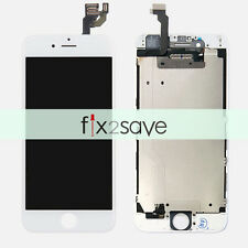 White LCD Display Screen + Touch Screen Digitizer Metal Plate For iPhone 6 4.7""