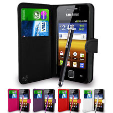 Wallet Case Pouch PU Leather Cover For Samsung Galaxy Y S5360 Mobile Phone