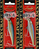 LUCKY CRAFT POINTER 78 SP  JERKBAIT SUSPENDING---CHARTREUSE ROOTBEER