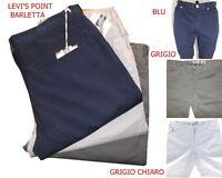 pantaloni uomo regular fit eleganti cotone estivi 52 54 casual chino grigio