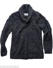 Maglioni e cardigan da uomo nere in misto lana