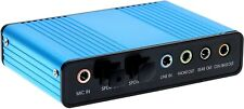 USB 2.0 External 6 Channel 5.1 Optical Audio Sound Card for Notebook PC New