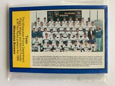 1990 Milwaukee Brewers Official Souvenir (30)Card Complete Police Set.
