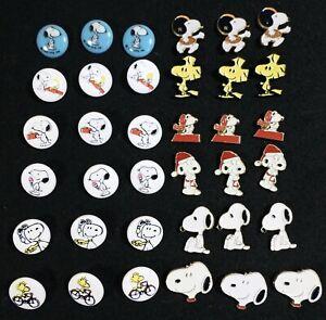 LOT 36 Vtg 1980s 1990s JHB International Snoopy Peanuts Gang Novelty BUTTONS