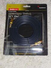Radio Shack Gold Series 15-1593 Fiber Optic Toslink AV Dubbing Cable 12 Ft 3.64m