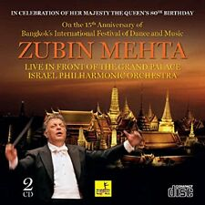 ZUBIN MEHTA, LIVE IN FRONT OF THE GRAND PALACE, BANGKOK, SEALED 16 T 2xCD (2013)