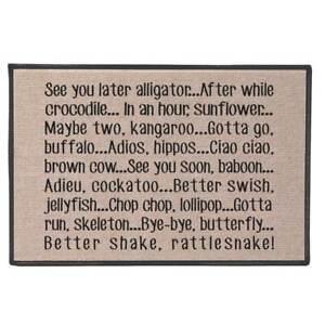 See You Later Alligator Doormat - 100% Olefin Welcome Rug