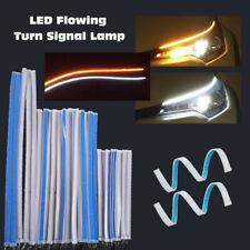 45cm Car White DRL LED Daytime Running Yellow Turn Signal Guide Strip Headlamp