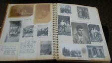 Scrapbook 1940s Photos Military Girls Football Boxing Ticket Wisconsin Ohio