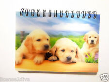 """LENTICULAR PUPPIES NOTEPAD 3D 3 1/2"""" X 5"""" 50 SHEETS KEEP 3D PVC PICTURE DOGS"""