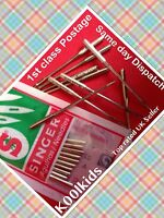 SINGER DOMESTIC SEWING MACHINE NEEDLES, 10 IN A PACK, SIZE 14 (2020/90/14) new
