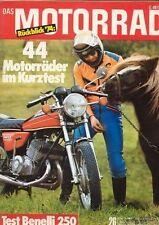 M7426 + Test BENELLI 250 2-C + Weltmeister-Parade 1974 + DAS MOTORRAD 26/1974