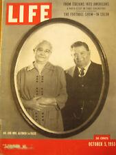 "LIFE Oct 5, 1953 Italian Americans, Marciano, Faulkner, ""1984"", Sky Sox, Orwell"