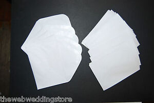 "Small white envelopes - Nice curved flap - Wedding/Christening/Gift - 4.5"" x 3"""