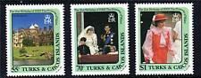 Turks & Caicos 1982 Dianas 21st Birthday SG709/11 MNH