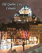 Canada - OLD QUEBEC CITY (night) - Travel Souvenir Flexible Fridge Magnet