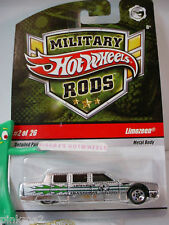 Rare 2009 Hot Wheels #2 Military Rods LIMOZEEN∞Silver∞Armored Transport