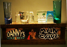 PERSONAL LIGHTED MAN CAVE shot glass / liquor bottle BAR display