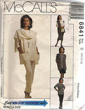 McCall's Sewing Pattern 6841, Co-ordinates, Size 12 - 16, OOP, Uncut