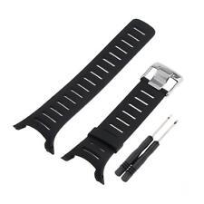Black Rubber Replacement Watch Band for Suunto T1 T1C T3 T3C T3D T4C T4D